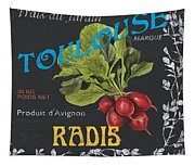 French Veggie Labels 3 Tapestry