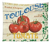 French Veggie Sign 3 Tapestry