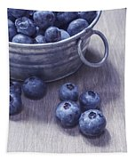 Fresh Picked Blueberries With Vintage Feel Tapestry