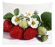Gardenfresh Strawberries Tapestry