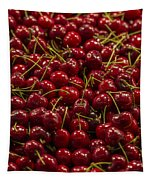 Fresh Red Cherries Tapestry