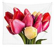 Fresh Spring Tulip Flowers Tapestry