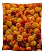 Fresh Yellow Cherries Tapestry