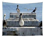 Pelican Friends Tapestry
