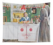 Friends From The Town - Dining Room Tapestry