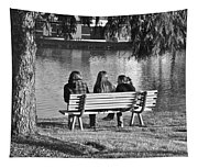 Friends In Black And White Tapestry