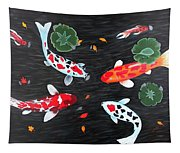 Friendship Underwater Big Commissioned Painting Tapestry