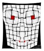 Frightening Mask Tapestry