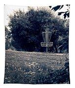 Frisbee Disc Golf Basket Tapestry