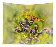 Fritillary On Thistle Tapestry