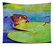 Frog - On A Water Lily Pad Tapestry