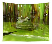 Frog On Lily Pad Tapestry