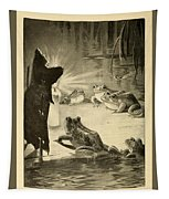 Frogs And Candle Tapestry
