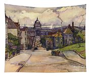 From A Hilltop In San Francisco By  Rowena Meeks Abdy Early California Artist C 1906 Tapestry