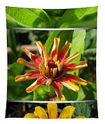 From Bud To Bloom - Zinnia Tapestry