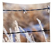 Frosted Fence Line Tapestry