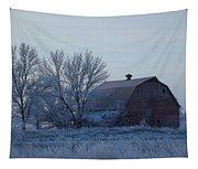 Frosty Barn Tapestry
