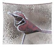 Frosty Cardinal Tapestry