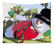 Frosty Is Here Tapestry