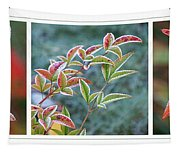 Frosty Leaves Tapestry