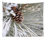 Frosty Norway Pine Tapestry
