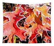 Frosty Oak Leaves Tapestry