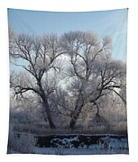 Frosty Trees 4 Tapestry