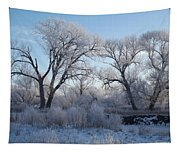 Frosty Trees Tapestry
