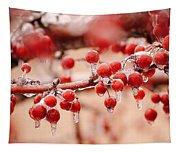 Frozen Berries Tapestry