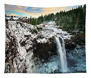 Frozen Snoqualmie Falls Tapestry