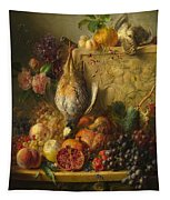 Fruit Flowers And Game Tapestry