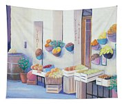Fruit Market In Tuscany Tapestry