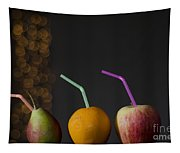 Fruit With Straws Tapestry