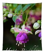 Fuchsia Birthday Card Tapestry