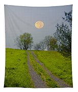 Full Moon On The Rise Tapestry