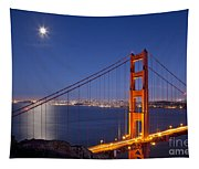 Full Moon Over San Francisco Tapestry