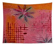 Fun Flowers In Pink And Orange 1 Tapestry