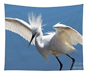 Fun Snowy Egret Tapestry