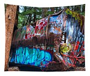 Function Junction Train Wreckage Tapestry