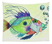 Funky Fish Art - By Sharon Cummings Tapestry