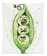Funny Peas In A Pod Tapestry by Olga Shvartsur