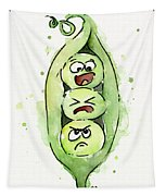 Funny Peas In A Pod Tapestry