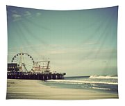 Funtown Pier Seaside Heights New Jersey Vintage Tapestry