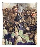 Gallant Piper Leading The Charge Tapestry