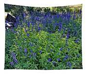 Garden Bench And Sage Tapestry