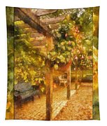 Garden Flowers With Bench Photo Art 02 Tapestry