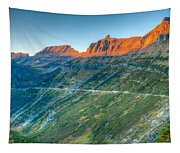 Garden Wall Sunset Tapestry