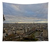 Gargoyle And The Eiffel Tower Tapestry