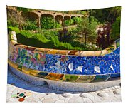 Gaudi's Park Guell - Impressions Of Barcelona Tapestry