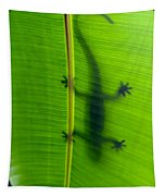Gecko Silhouette Tapestry
